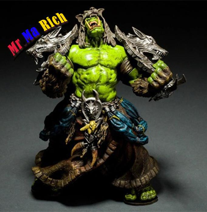 Serie Dc Unlimited 1 Wow Action Figure 7.75 Pollice Orc Shaman [rehgar Earthfury] Wow Carattere Pvc Figure starz game wow orc raider wolf rider knight pvc static figure toys battle ver 26cm chinamon green