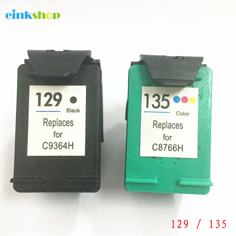 einkshop 129 135 Compatible Ink cartridge Replacement for hp 129 135 Deskjet C4183 5943 6943 6983 D4163 2575 D5163 8053 Printer