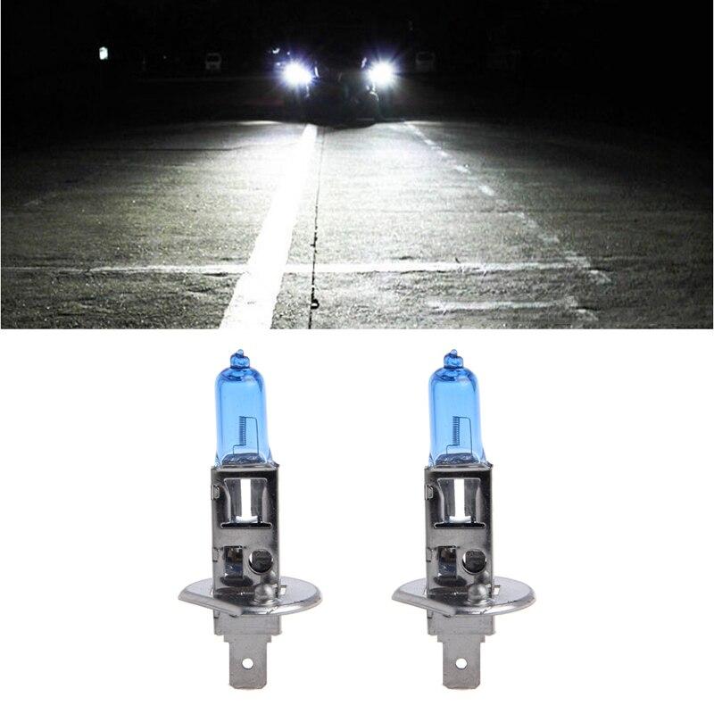 1 Pair Car Headlight H1 Lamp Super White Car Halogen Bulb 100W Fog Light DC 12V