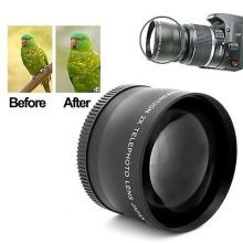 72mm 2x Magnification Telephoto Tele Converter Lens for Canon Nikon Camera
