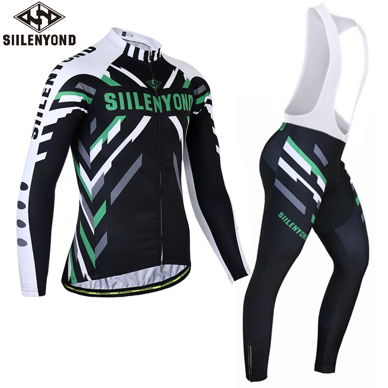 Siilenyond Winter Thermal Fleece Cycling Jersey Set Long Sleeve Keep Warm Ropa Ciclismo Invierno MTB Bicycle Wear Bike Clothing malciklo winter fleece thermal cycling jersey set long sleeve bicycle bike clothing pantalones ropa ciclismo invierno wears