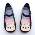 Девушка Обувь мода Мультфильм Дети Пляжные Сандалии Прекрасный кролик весна осень новорожденных девочек сандалии обувь желе малышей детские сандалии