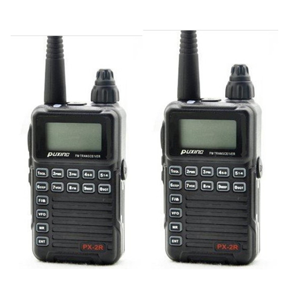 2 X Updated version Puxing PX 2R Plus Half dualband dual receive Two Way Radio FM