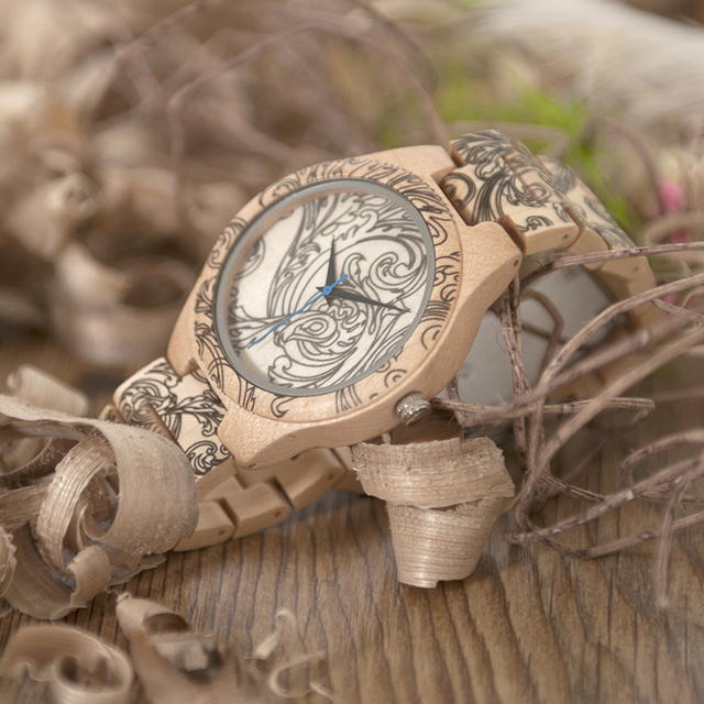 Bobo Bird Fashion Style Wood Band Quartz Wooden Watches 1
