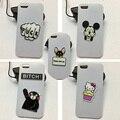 Для iphone 4 4s 5 5s 5g Случае 3D Акриловые Собака Микки Маус Hello Kitty Медведь Милый Мультфильм Белый Жесткий Обложка Чехол Для iphone 5c
