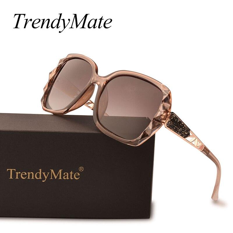 Moda Óculos Polarizados Óculos de Sol Das Mulheres Marca De Luxo Designer de Óculos de sol Condução Espelho Óculos de Sol Oculos de sol Feminino UV400 038 T