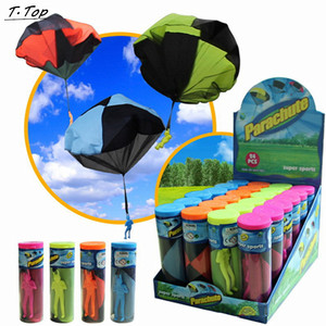 Colorful Parachute Hand Throwing kids mini Parachute soldier toy Outdoor sports Children Educational Toys