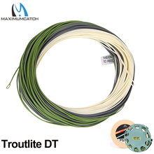 Maximumcatch Real Troutlite Double Taper Fly Fishing Line Floating 90ft 3/4/5/6wt with Two Welded Loops DT Fly Line