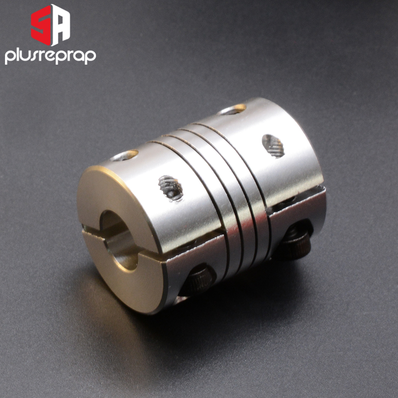 3D Printer Accessory 5X8mm Coupler CNC Aluminium Alloy Z Axis Stepper Motor Flexible Shaft Coupling For T8 Lead Screw