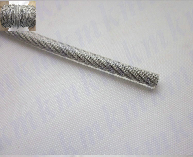 Wholesale 100M/Roll Overall Diameter 0.4MM PVC Plastic Coated Stainless Steel Wire Rope(0.3MM Wire Rope With 0.05MM Coating)  цены