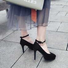 גדול גודל 11 12 13 פלטפורמת עקבים נשים נעלי אישה משאבות ladie מחודדת חבילה את העקב חבילה הבהונות בסדר עם אחת נעליים