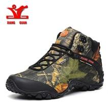 XIANG GUAN Waterproof canvas hiking shoes boots Anti-skid Wear resista