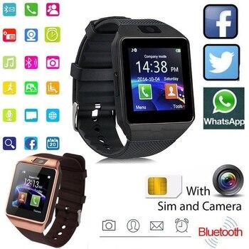 Reloj inteligente DZ09 con pantalla táctil reloj inteligente para hombres y mujeres reloj inteligente SIM TF con tarjeta deportiva y Bluetooth para Android IOS
