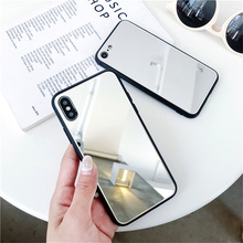 Cover for iphone 6 6s case Luxury Plating Mirror Phone Case Cover For iPhone 7 Case Silicon For iPhone XS Max Xr X 10 7 8 Plus цена и фото