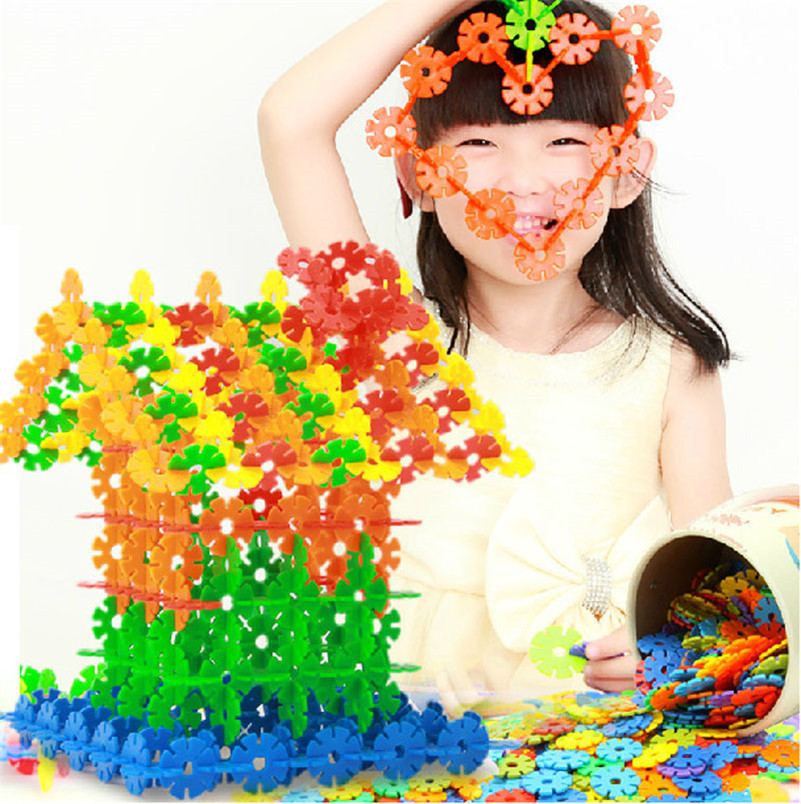 Blocks Impartial 100pcs/lot Snow Snowflake Building Blocks Toy Bricks Diy Assembling Classic Toys Early Educational Colorful Gifts For Children Model Building
