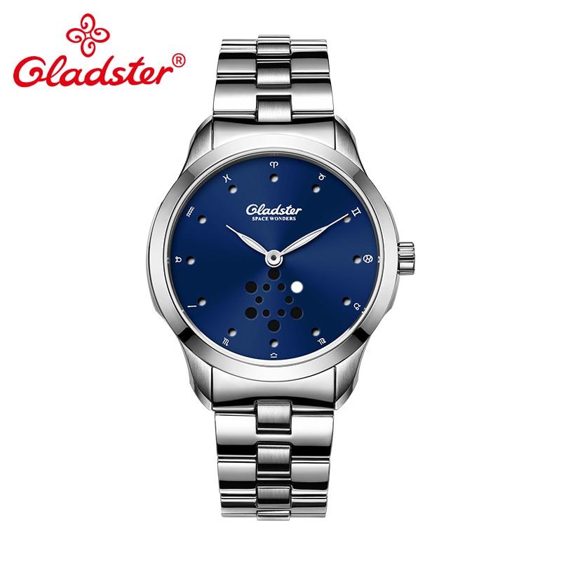 Gladster Luxury Japanese MIYOTA 1L45 Quartz Man Watch Super Luminous Hands Men Wristwatch Waterproof Stainless Steel Male Clock