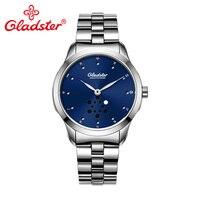 1L45 Gladster Luxo Japonês MIYOTA Quartz Relógio Homem Super Mãos Luminosas Homens relógio de Pulso de Aço Inoxidável À Prova D' Água Relógio Masculino