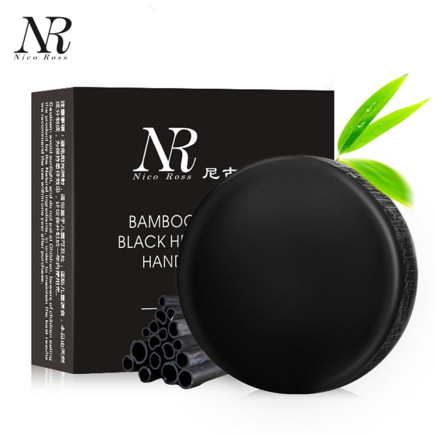 NR Handmade Soap Soft Purify Blackhead Clean Carbon Handmade Bamboo Charcoal Black Head Remover Soap Oil Control Siyah Nokta#121