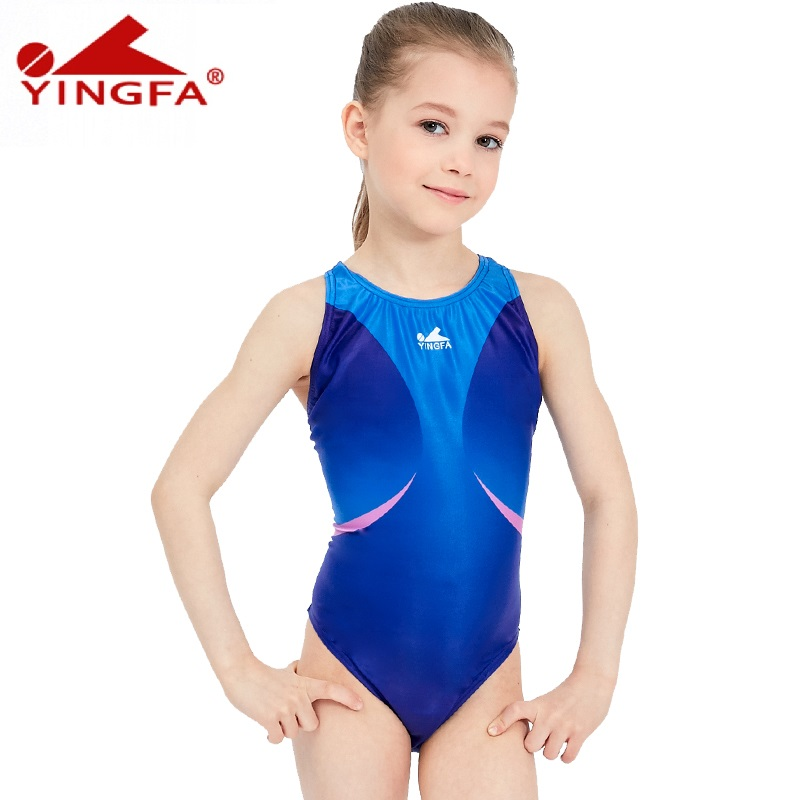 00bd694cf2ab4 Yingfa kids swimwear one piece Girls swimsuits tight children bathing suits  racing competition maillot de bain