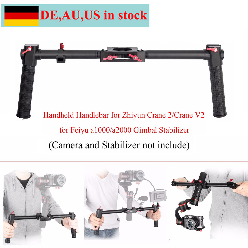 EACHSHOT DH-1 Dual Handle Gimbal Grip for Zhiyun Crane 2/Crane V2/Feiyu a1000/a2000,Handheld Handlebar for Gimbal Stabilizer daily dog сухой корм dailydog puppy medium