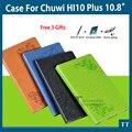 Para Chuwi Hi10 plus caso de Alta qualidade Capa de Couro Pu Para CHUWI Hi10 plus 10.8 Polegada Tablet PC + free 3 Presentes