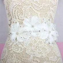 Wholesale Luxury White Flower Wedding Dress sash Bridal belt
