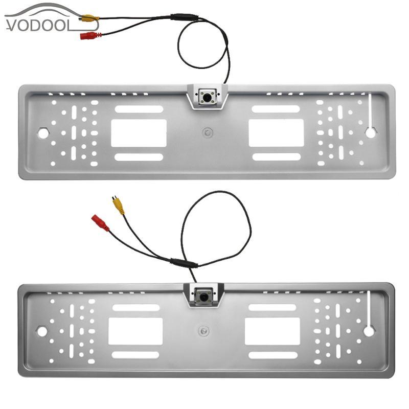 Waterproof European Auto Car License Plate Frame LED Backup Camera Automobiles Number Plate Holder Bracket Parking Rearview Cam