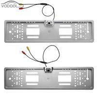 Waterproof European Car License Plate Frame LED Backup Camera Automobiles Number Plate Holder Bracket Parking Rear