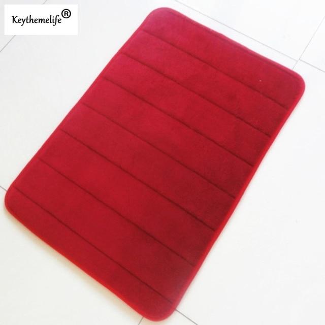 Keythemelife antiscivolo Tappetini Da Bagno 40x60 cm Memory Foam Bagno Strisce Orizzontali Rosa rossa rosso rosa verde blu caffè 10 colori BA
