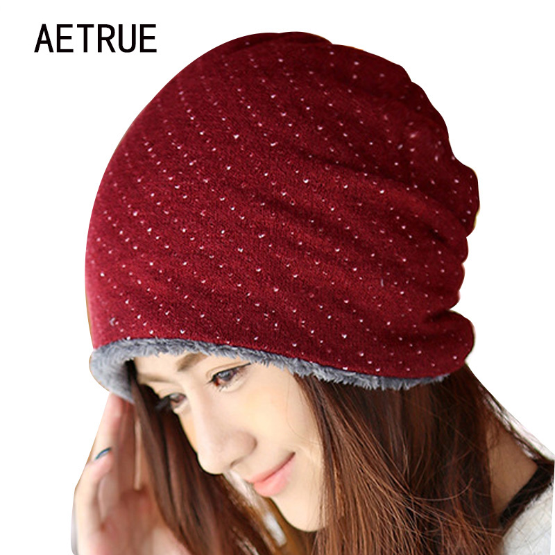 Knitted Winter Hat Warm Caps Beanies Skullies Winter Hats For Women Bonnet Ladies Brand Beanie Thicken Mask Fur Touca 2017 Cap beanies winter hat brand knitted caps skullies winter hats for men women cap warm thicken bonnet beanie gorros skull mask 2017