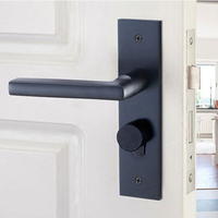 Space Aluminum Door Locks with Key Door Handle For Interior Exterior Door Bedroom Room DLB2020