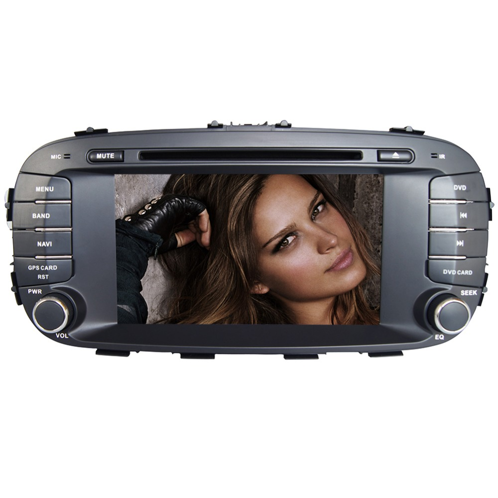 7 HD 1024*600 4 Core Android 6.0 Car DVD GPS Radio Video Stereo Navigation Player for Kia Soul 2014 2015 ADAS DVR TPMS OBD BT