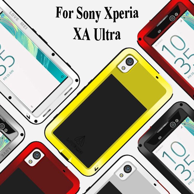 bilder für 6 ''XA Ultra Liebe Mei Rüstung Cover Unterwassergehäuse für Sony Xperia XA Ultra Fundas Shell Gehäuse Wasser/Dirt/Shock/Regen Beweis Capa