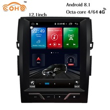 Mark X/Reiz Android 8.1 8-core 12.1 inch Tesla car gps navigation auto radio 1 din android for 2007-2015 TOYOTA