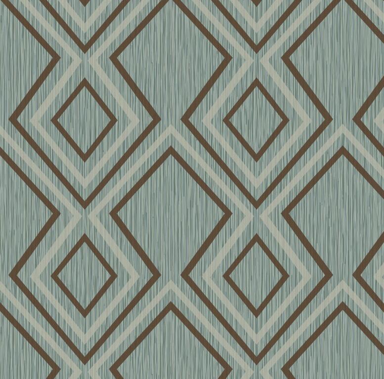 Nouveau moderne motif géométrique fond d'écran papier peint élégant salon chambre papier peint rouleau vert papier peint pour