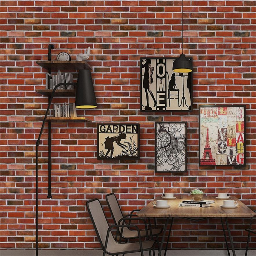 1 PC Wall Stickers 40 * 300cm 3D Wall Paper Brick Stone Effect Self-adhesive Wall Sticke ...