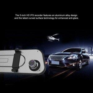 Image 2 - 초박형 2.5d 운전 레코더 5 인치 터치 스크린 자동차 카메라 별빛 야간 투시경 전방 및 후방 이중 렌즈