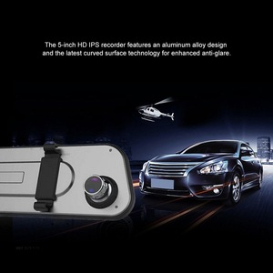 Image 2 - Ultra thin 2.5D Driving Recorder 5 inch Touch Screen Car Camera Starlight Night Vision Front And Rear Dual Lens