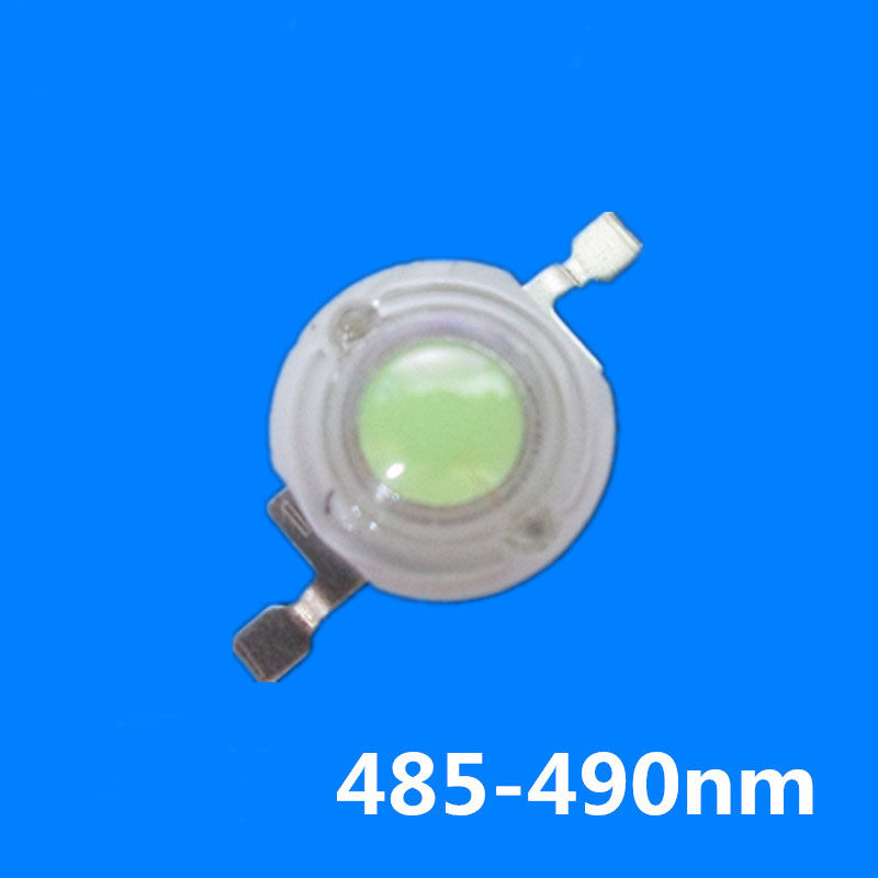 3W 485-<font><b>490nm</b></font> High power blue <font><b>LED</b></font> lamp beads for Sea water plant cylinder lighting 20pcs image