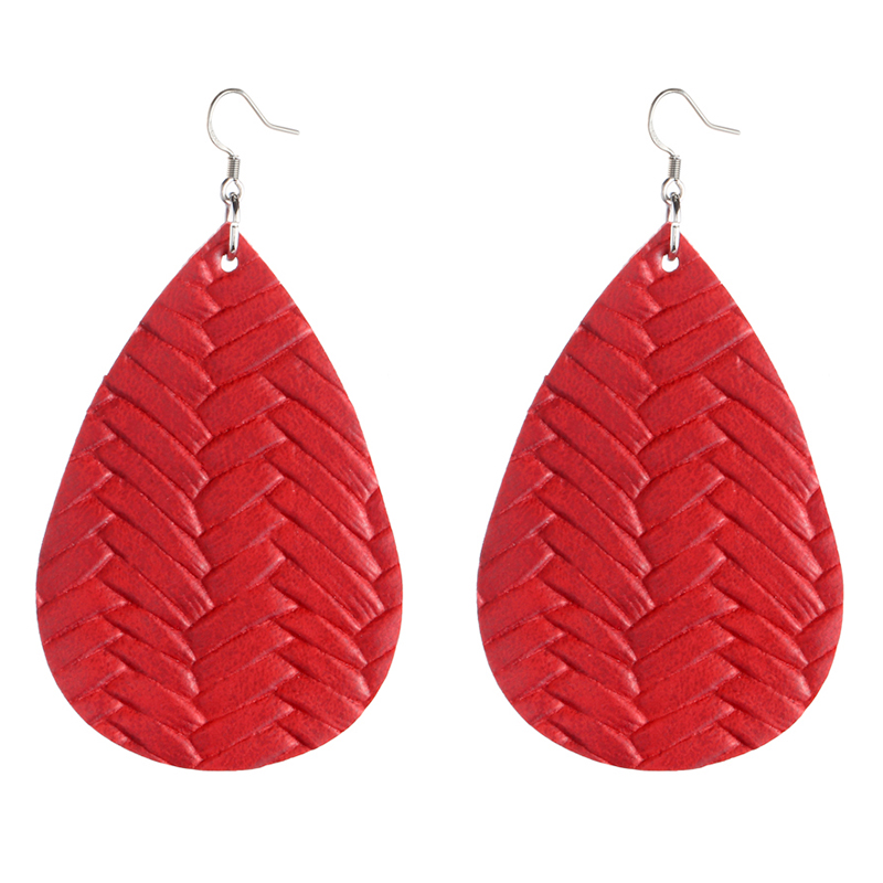New Teardrop Leather Earrings Petal Drop Earrings Antique Lightweight S925 Carved Stainless Steel Earrings For Women Gifts 7