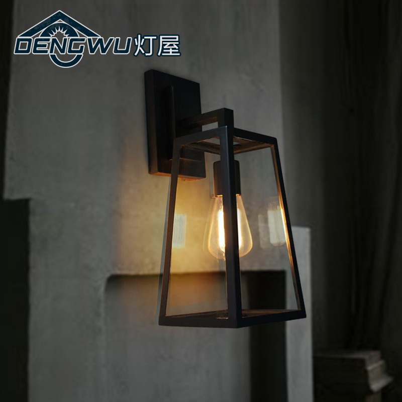 Retro creative industrial corridor wall lamp bedroom bedside lamp European style bar and restaurant stairs outdoor wall lamp m american country style industrial wall lamp retro bar bedroom pulley light fixtures stairs wall lamp