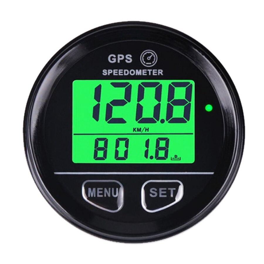 12 v 24 v GPS Compteur De Vitesse Compteur Vert Rétro-Éclairage Numérique Haute Vitesse Rappel Horloge Voltmètre Pour ATV UTV Moto SUV