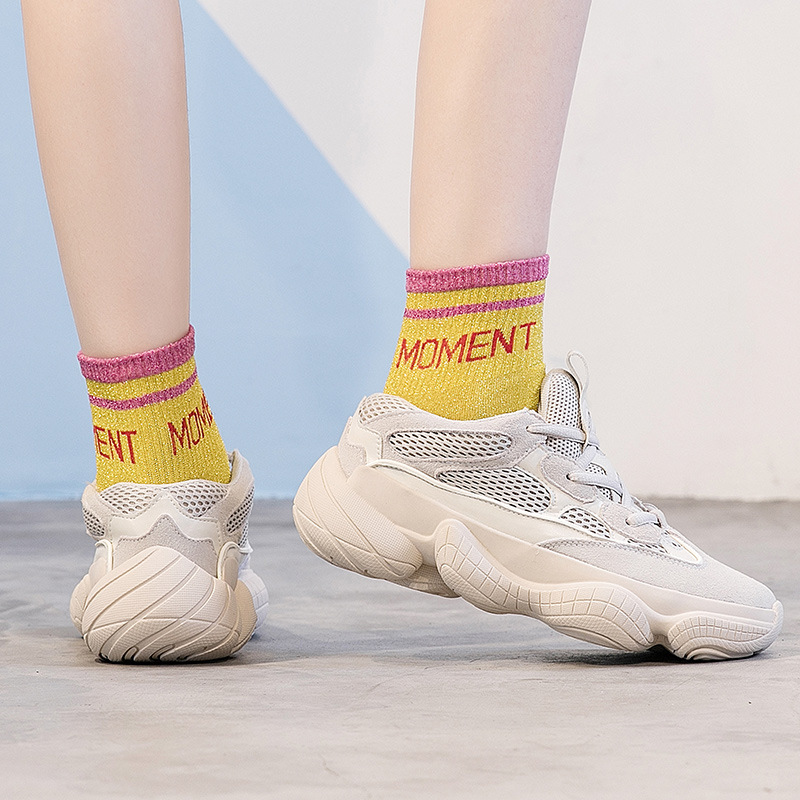 Atmungs Sommer Frauen Frühjahr Mode schwarzes Weibliche Freizeit Muffin Turnschuhe Designer Casual Neue Schuhe Beige xTwqn8U51q