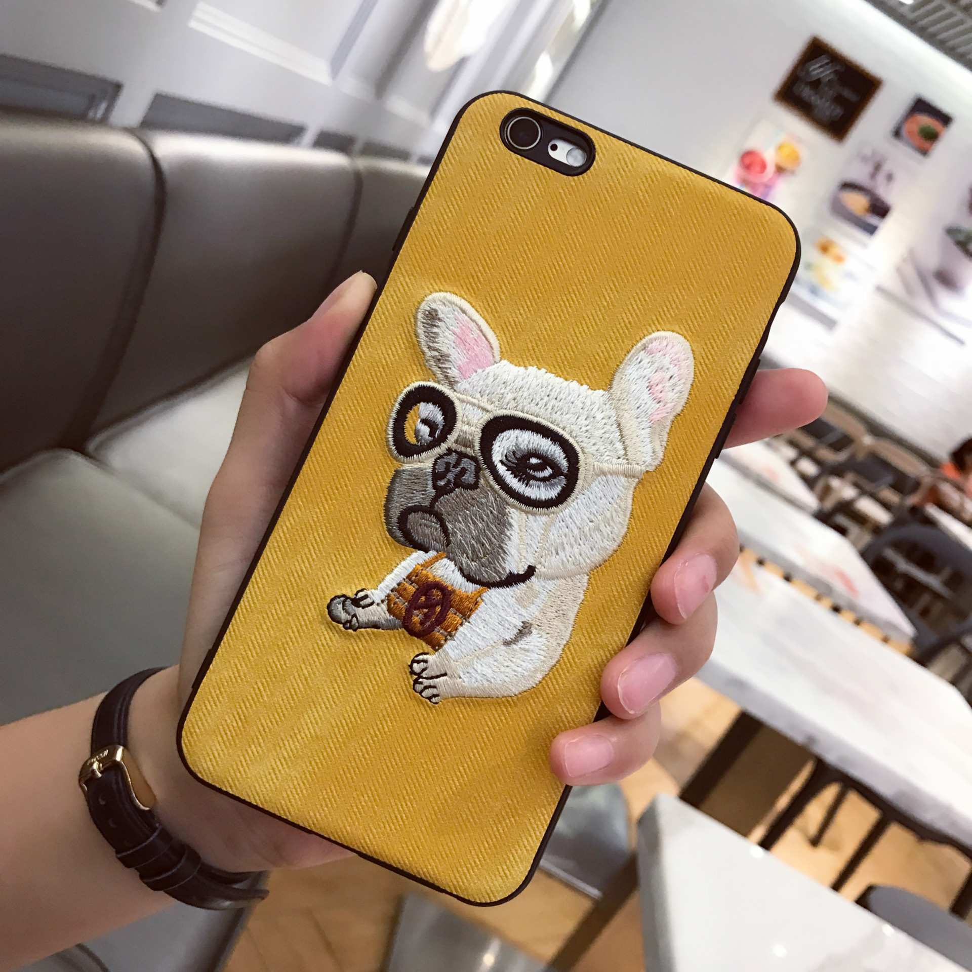 Cute 3D Embroidery Dog Teddy Pug HUSKY Dog Pet Cover Iphone X 6 6S 7 8 Plus Soft Mobile Phone Iphone XS Max XR