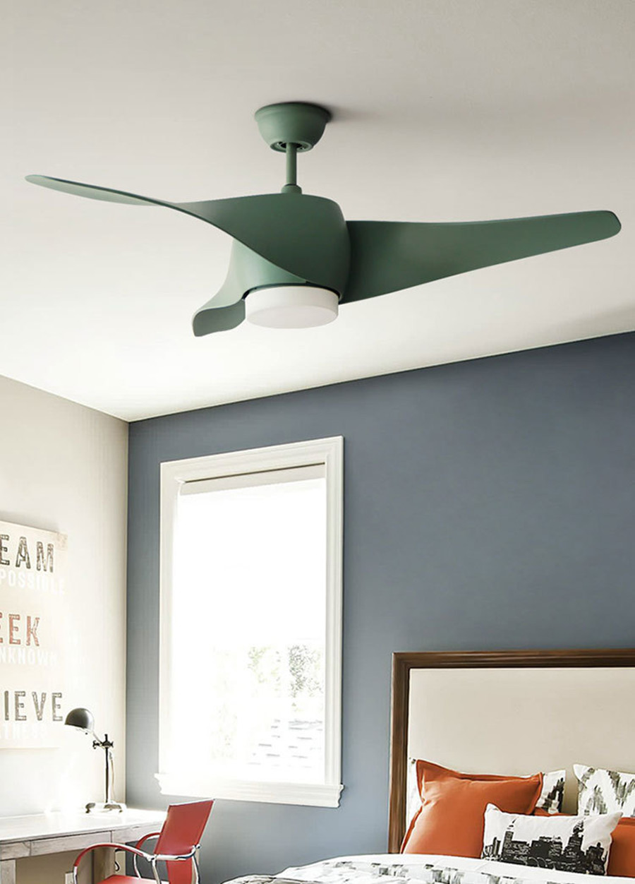 Nordic Modern Fan Lamp Minimalist Ceiling Fans Light for Living Room Restaurant Remote Control Retro Spiral Fan Blade Home Light-in Ceiling Fans from ...