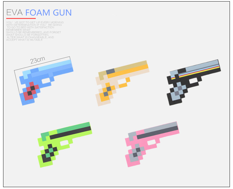 2015 New Minecraft Toys Minecraft Foam Diamond gun EVA Model Toys Gift Toys For Kids Birthday