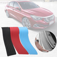 Universal Rear Bumper Protector Silicone Protective Strip Trunk Boot Door Sill Guard Trim Cover Sticker Car
