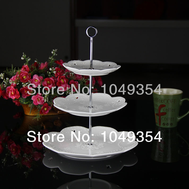 wholesale So the new silver ring shape bracket is suitable for wedding, party cake home decor