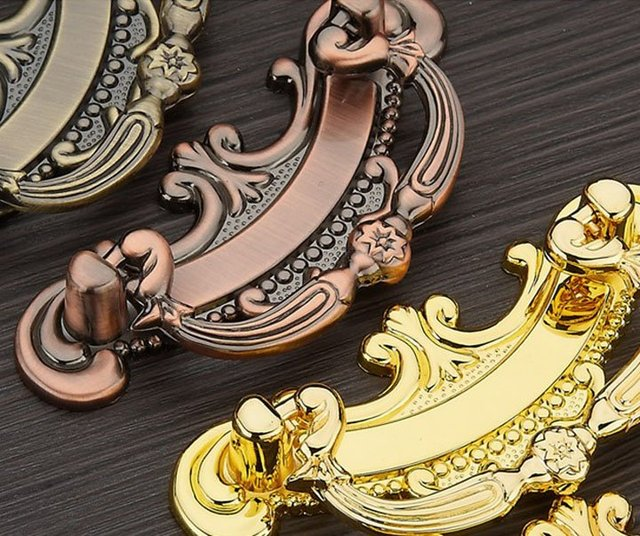 10Pcs/Lot Classical Antique Copper Furniture Cabinet Fitting Shoe & Closet Door  Handles And Knob - 10Pcs/Lot Classical Antique Copper Furniture Cabinet Fitting Shoe