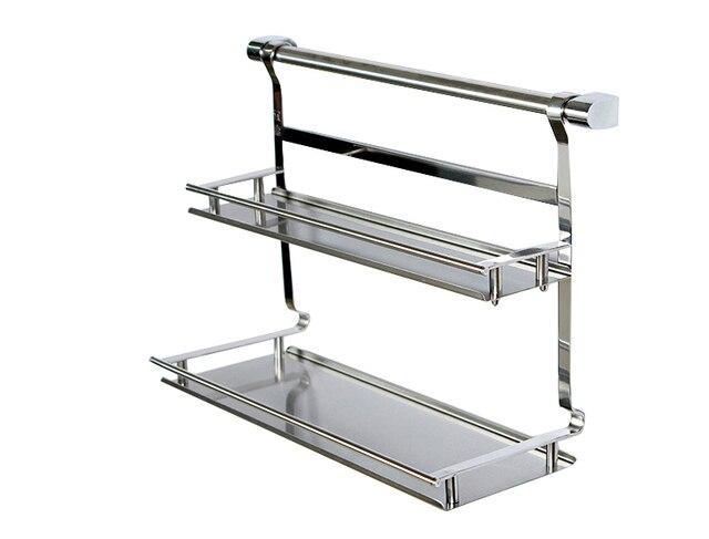 Cucina in acciaio inox mensola rack di stoccaggio mensola da bagno
